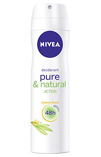 NIVEA DEO PURE&NATURAL 150 ML KADIN
