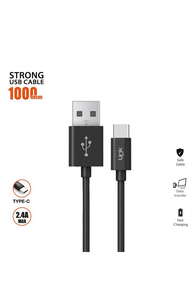 LINKTECH K560 TYPE-C USB KABLO SIYAH