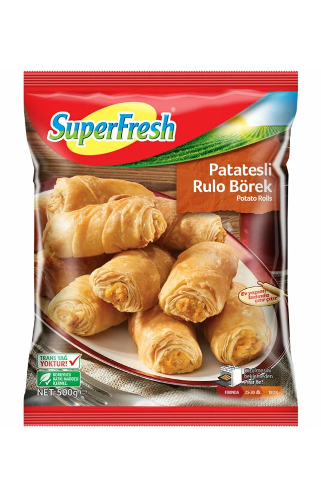 SUPERFRESH MINI BOREK PATATESLI 500 GR