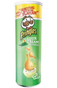 PRINGLES SOUR CREAM&ONION 165 GR