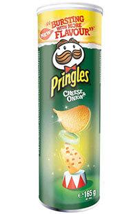 PRINGLES CHEESE&ONION 165 GR