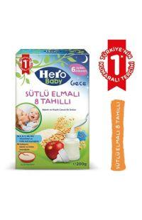 HERO BABY SUTLU 8 TAHILI ELMALI KASIK MAMA 200GR