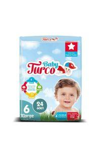 BABY TURCO DOGADAN 6 NUMARA EXTRA LARGE 24 LU