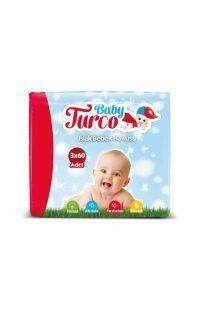 BABY TURCO ISLAK BEBEK HAVLUSU 3X60 LI