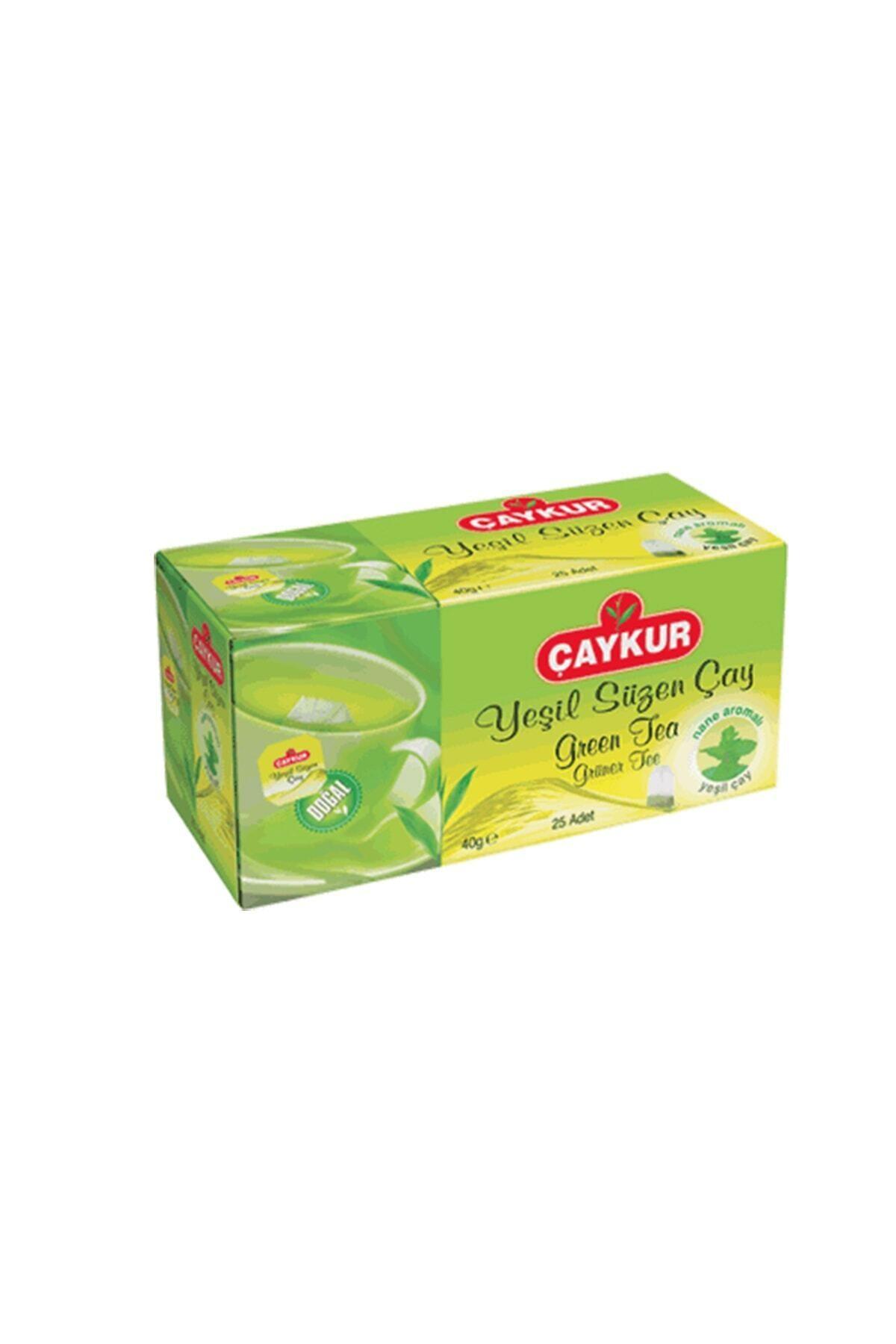 CAYKUR YESIL CAY NANELI(GREEN TEA) 40 GR