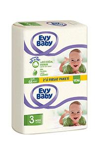 EVY BABY BEBEK BEZI 2 LI PAKET MIDI 68 LI