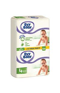 EVY BABY BEBEK BEZI 2 LI PAKET MAXI 60 LI