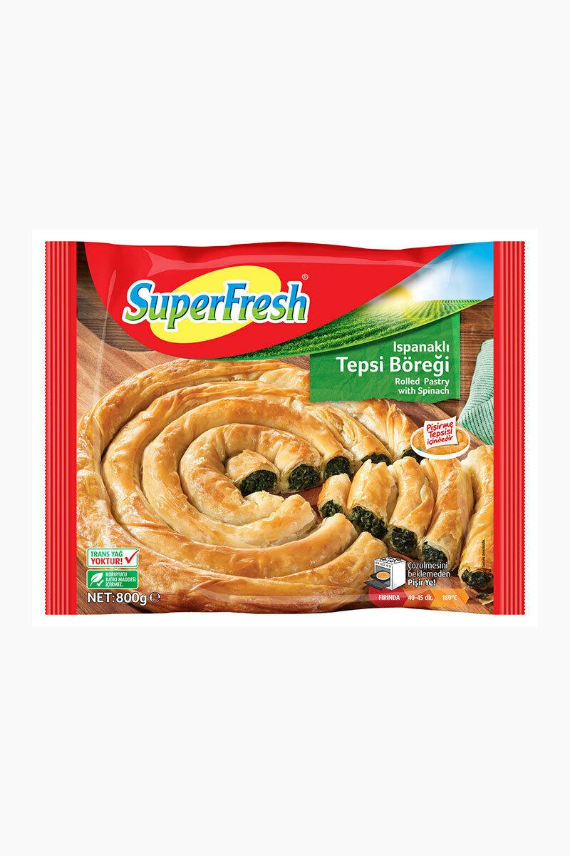 SUPERFRESH TEPSI BOREGI 800 GR PATATESLI