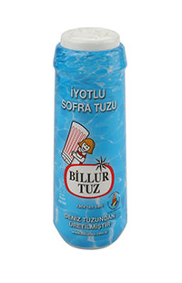 BILLUR TUZ PLAS.IYOTLU SOFRA TUZU 500GR