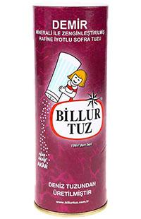 BILLUR TUZ  500 GR DEMIR MINERALLERIYLE ZENGIN