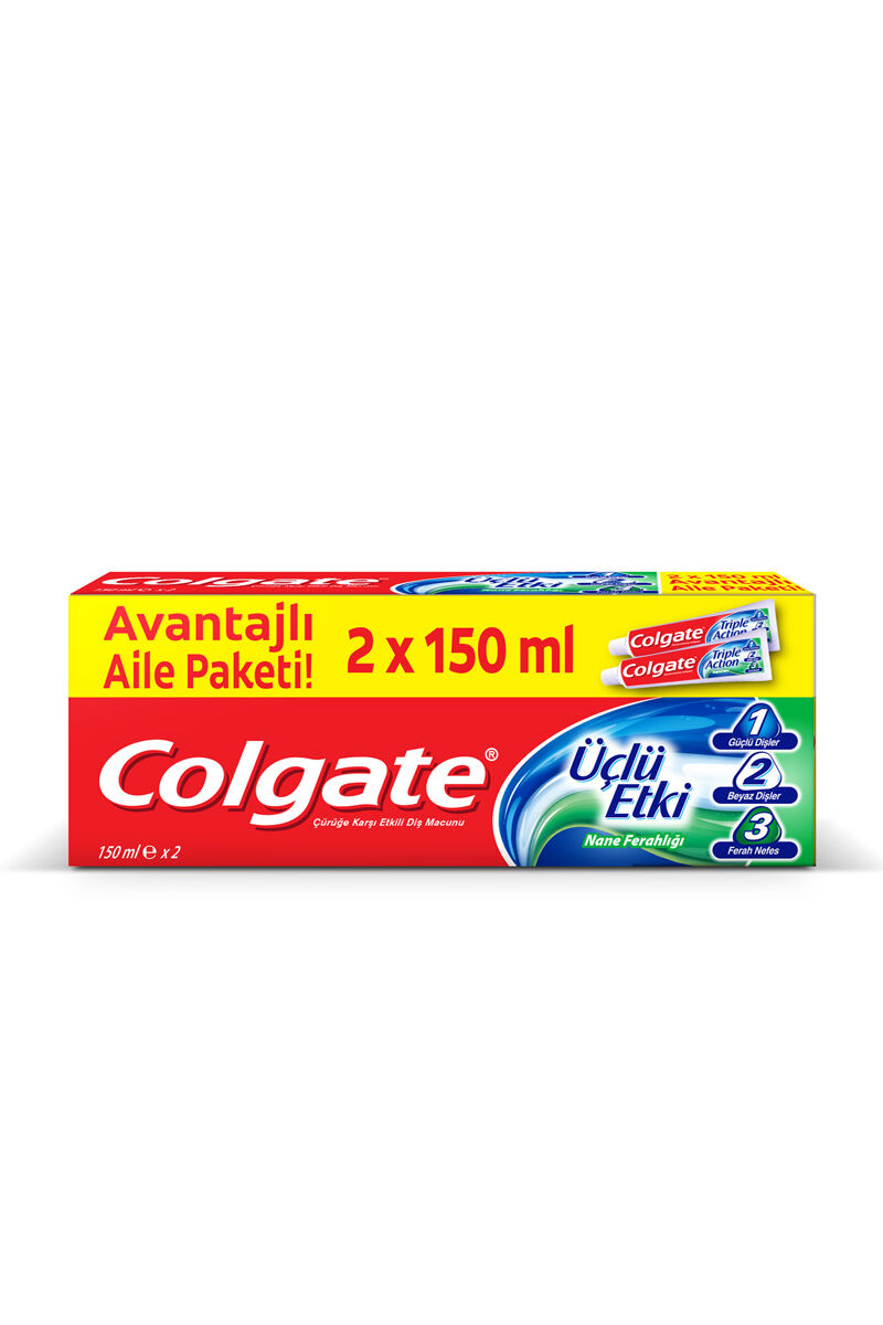 COLGATE UCLU ETKI 2x150 ML