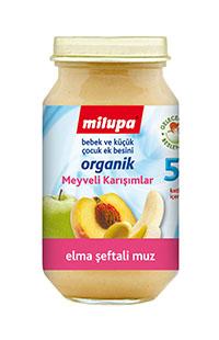 MILUPA ORGANIK ELMA-MUZ-SEFTALI 200 GR
