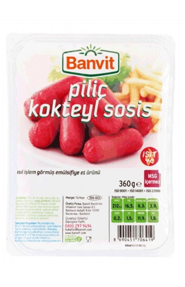 BANVIT PILIC KOKTEYL SOSIS 360 GR