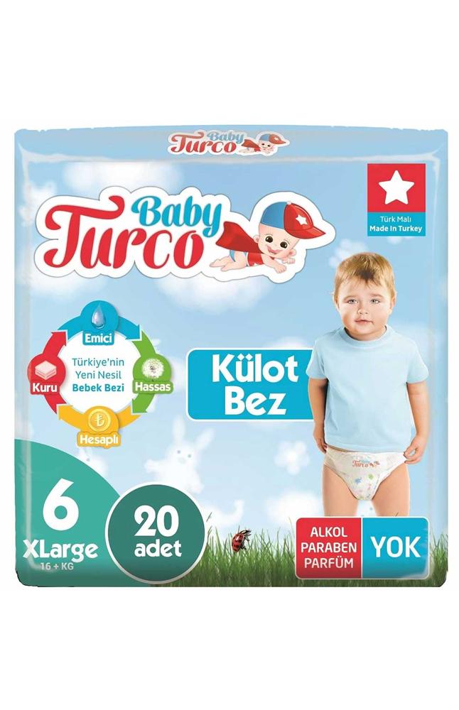 BABY TURCO KULOTLU BEZ 6 NUMARA EXTRA LARGE 20 LI