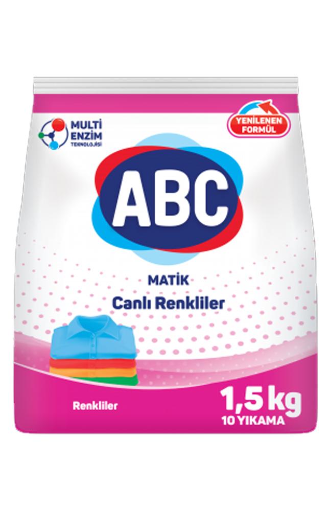 ABC MATIK RENKLILER 1,5 KG 10 YIKAMA