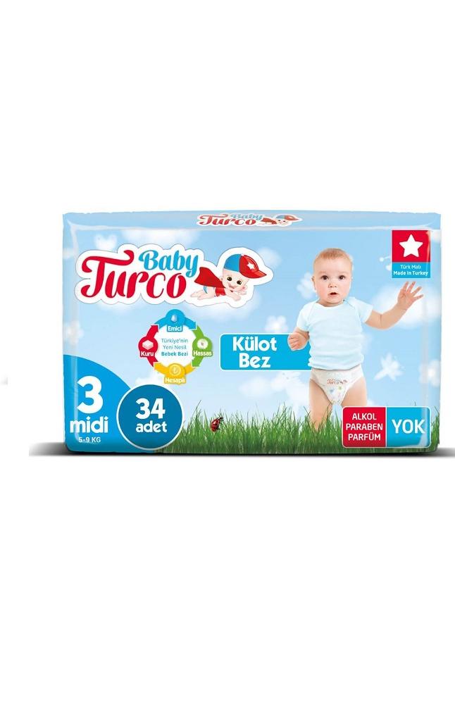 BABY TURCO KULOTLU BEZ 3 NUMARA MIDI 34 LU