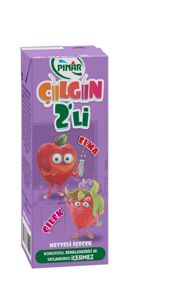 PINAR CILGIN IKILI CILEK ELMA 200ML