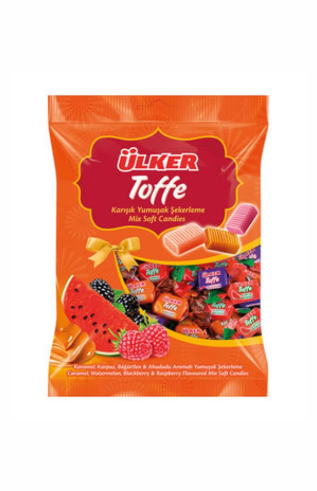 ULKER TOFFE DOLGULU KARISIK MEYVELI SEKER 350 G