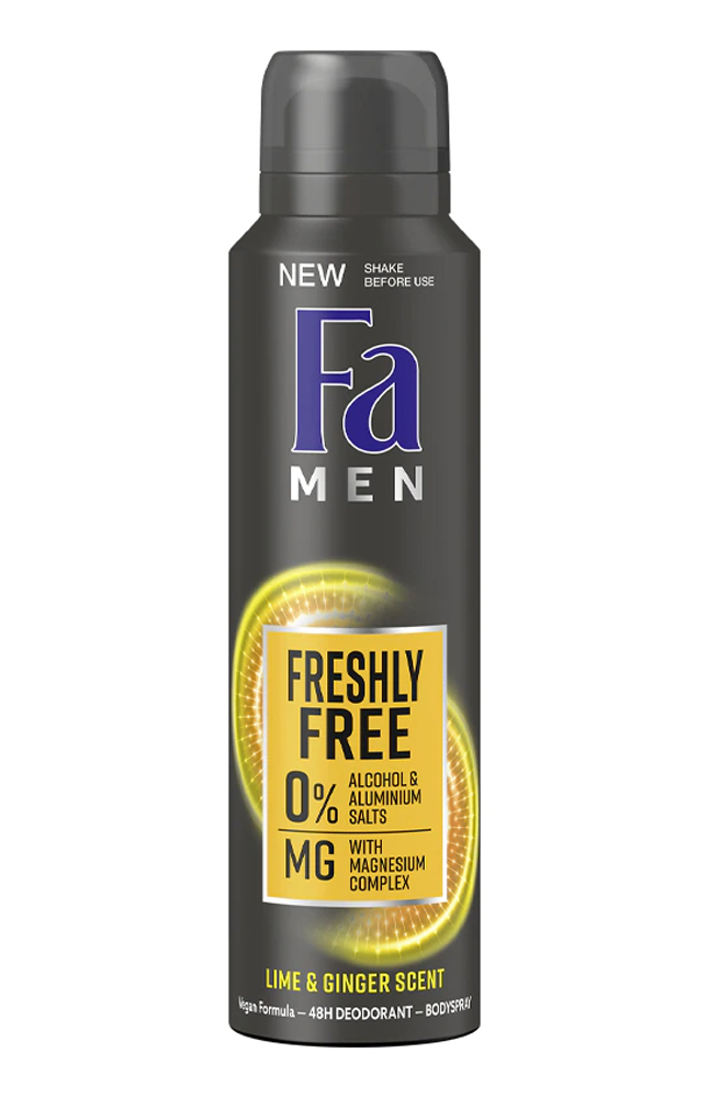 FA MEN DEO SPRAY LIME & GRINGER 150 ML
