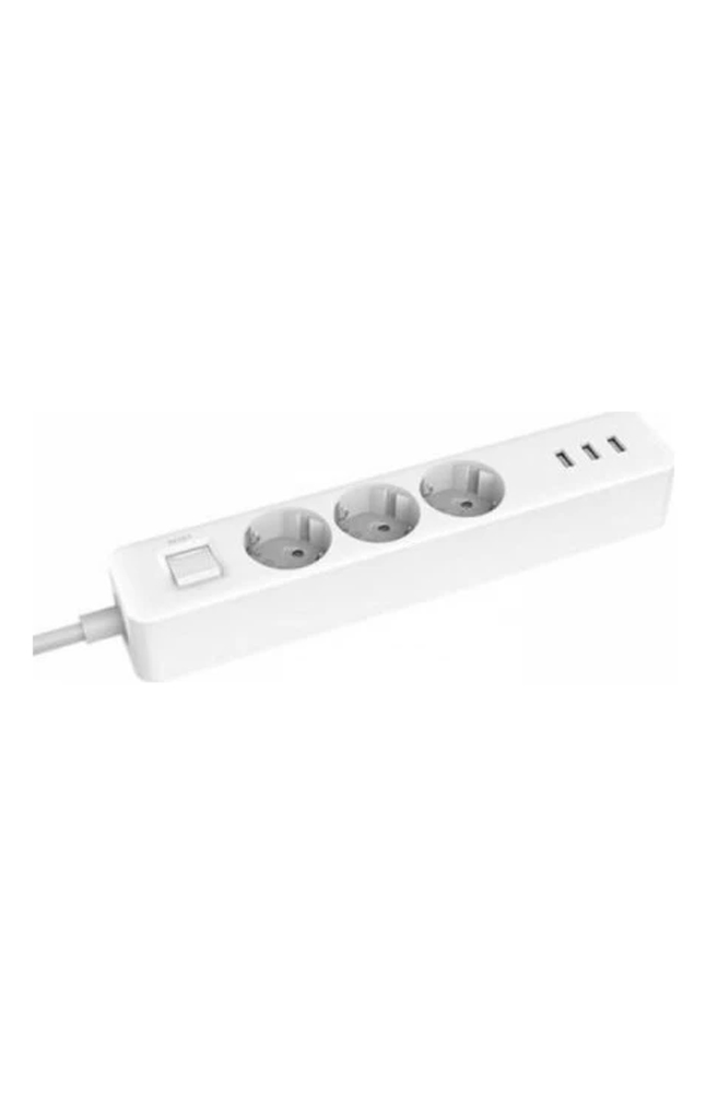 XIAOMI MI POWER STRIP (3 OUTLET,3 USB) UNI. WHITE