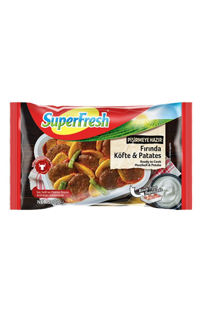 SUPERFRESH FIRINDA KOFTE PATATES 500 GR