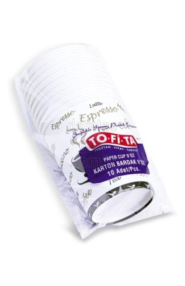 TOFITA OTOMAT PLASTIK BARDAK 10 LU