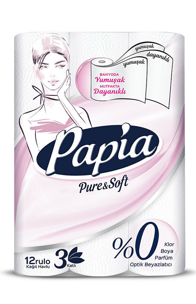 PAPIA HAVLU 12 LI PURESOFT