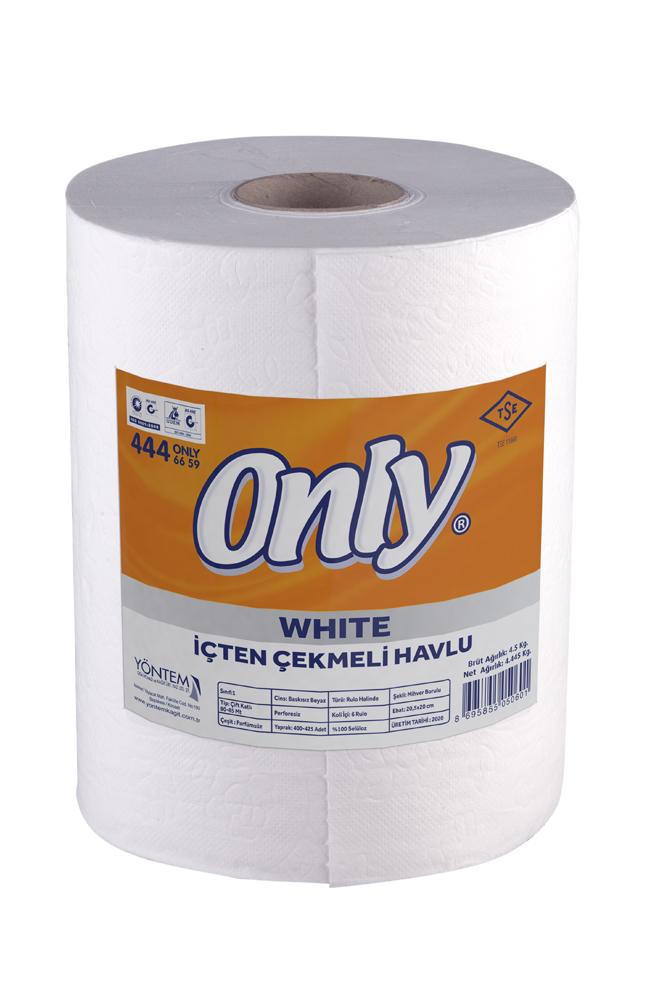 ONLY WHITE IÇTEN ÇEKMELI HAVLU