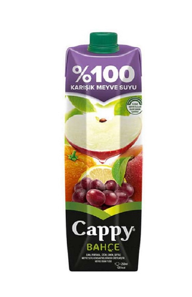 CAPPY % 100 KARISIK (ELMA) TETRA 1 LT