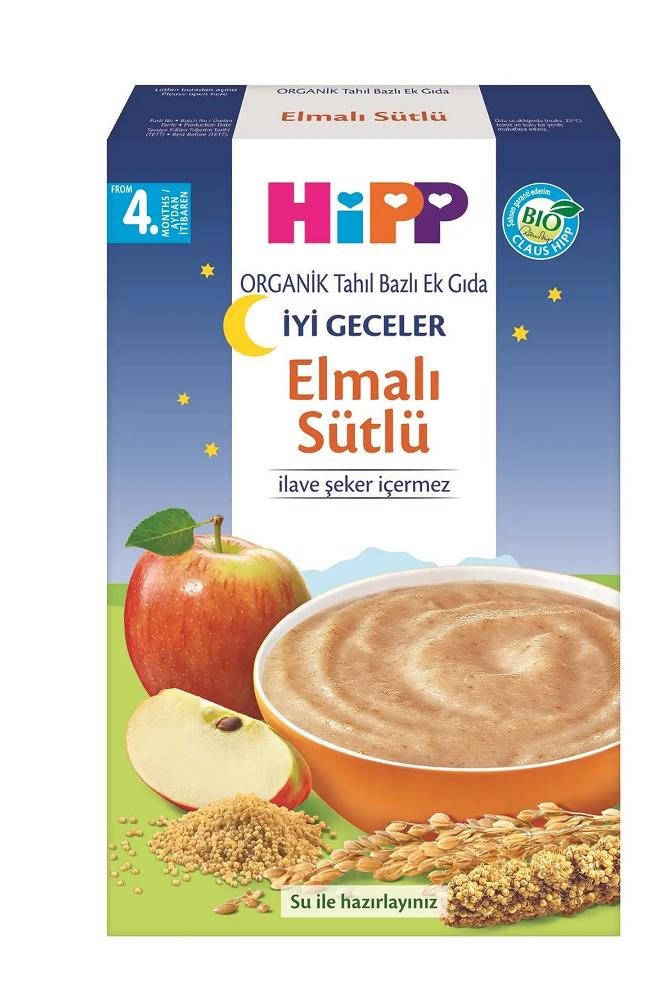 HIPP IYI GECELER SUTLU ELMALI 250 GR
