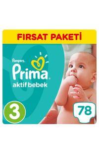 PRIMA AKTİF BEBEK FIRSAT PAKETİ MIDI 70 LI
