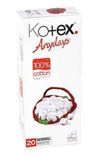 KOTEX GUNLUK PED NORMAL 20 LI